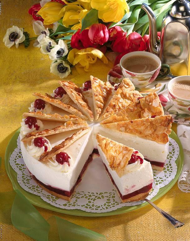 Kirsch-Fächer-Torte