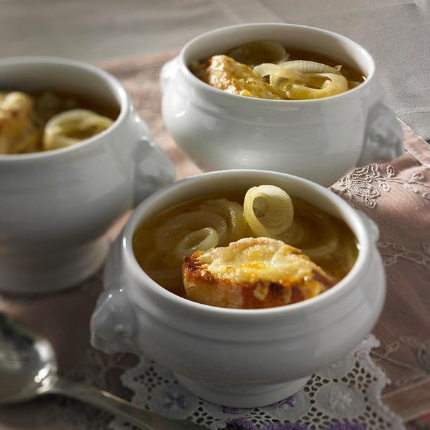 Französische Zwiebelsuppe Rezept | Lecker