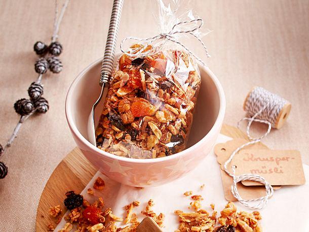 Selbst gemachtes Knuspermüsli Rezept | LECKER