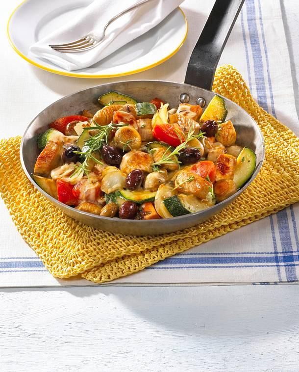 Leichte Gemüse-Puten-Pfanne Rezept | Lecker