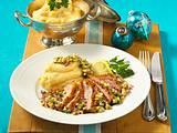 80-Grad-Entenbrust mit Avocado-Salsa und Kartoffelpüree Rezept