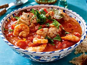 Fisch-Garnelen-Stew Rezept