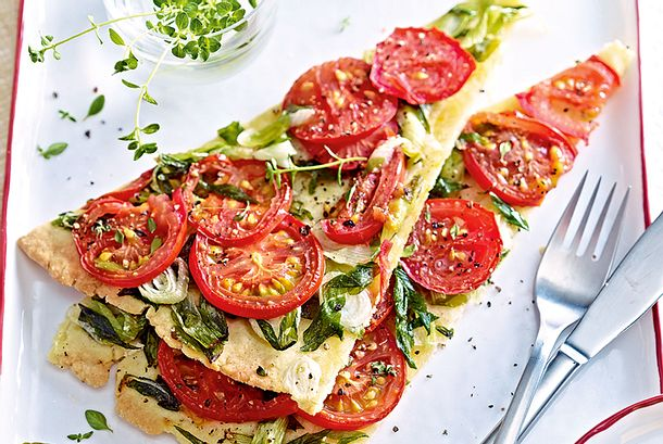 Lauchzwiebeltarte mit Tomaten Rezept-F4898303-01