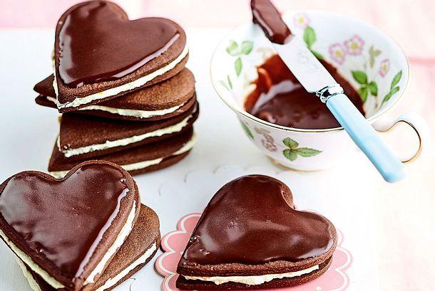 Schoko-Doppeldecker zum Valentinstag Rezept