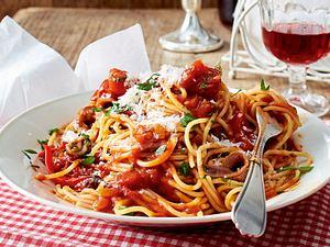 Spaghetti all'arrabbiata mit Wodka Rezept