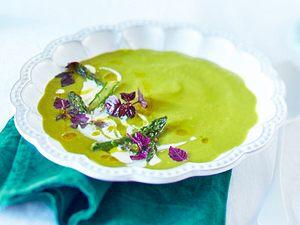 Spargel-Erbsen-Suppe mit Estragon Rezept
