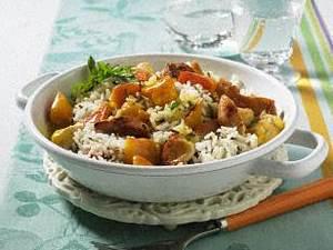 Afrikanischer Kürbis-Reis Topf Rezept