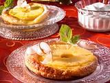 Ananas-Blätterteig-Törtchen mit Schokoladeneis Rezept