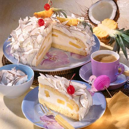 Ananas-Dickmilch-Torte mit Kokos Rezept