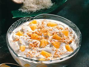 Ananas-Quarkspeise mit gerösteten Kokosraspel Rezept