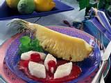 Ananasspalten mit Kokosgelee Rezept