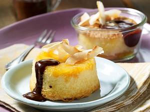 Ananastörtchen mit Schokosoße Rezept
