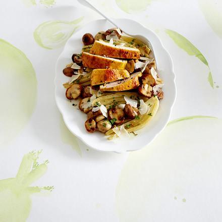 Antipasti mit Fenchel, Champignons und Hähnchenfilet Rezept
