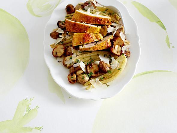 Antipasti mit Fenchel, Shiitake-Pilze und Hähnchenfilet Rezept
