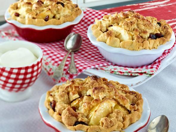 Apfel-Crumble-Pie Rezept