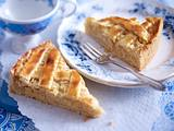 Apfel-Gitterkuchen mit Marzipan Rezept