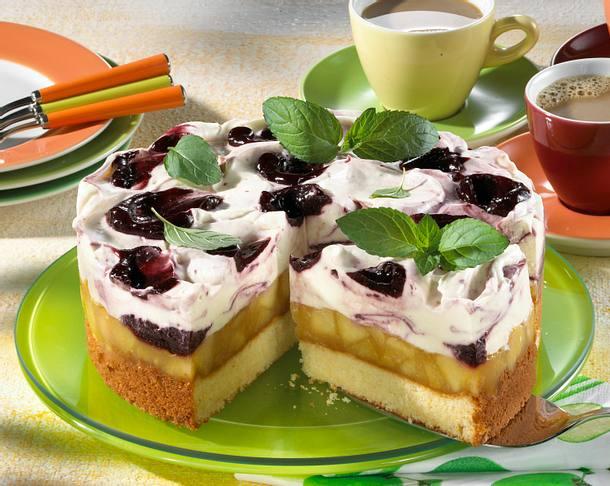 Apfel-Holunder-Torte Rezept