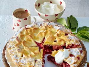 Apfel-Kirsch-Herz-Torte Rezept