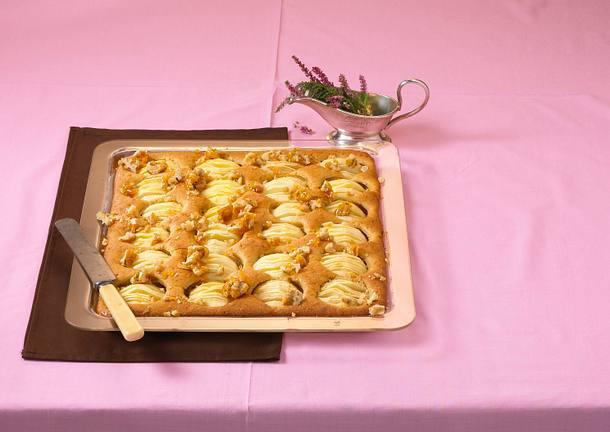 Apfel-Kürbis-Blechkuchen Rezept