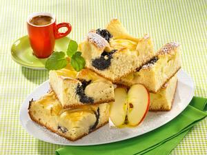 Apfel-Mohn-Quarkblechkuchen Rezept