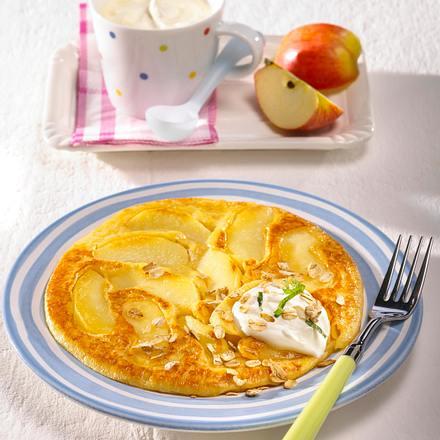 Apfel-Quark-Pfannkuchen Rezept
