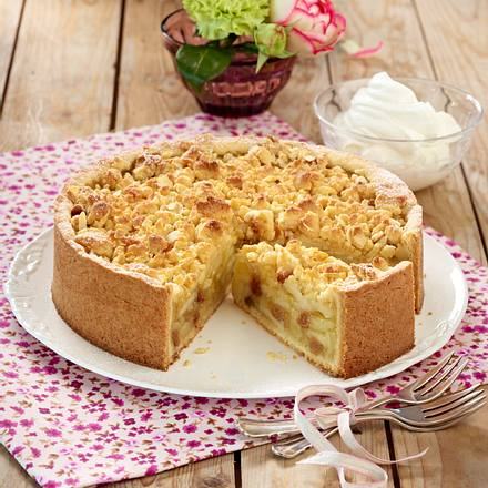 apfel streusel kuchen mit guss rezept lecker. Black Bedroom Furniture Sets. Home Design Ideas