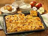 Apfel-Sultaninen-Schneckenkuchen vom Blech Rezept
