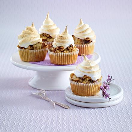 Apfel-Walnuss-Muffins mit Baiserhaube Rezept