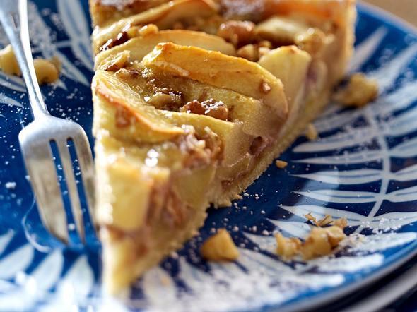 Apfelkuchen mit Calvadosguss Rezept