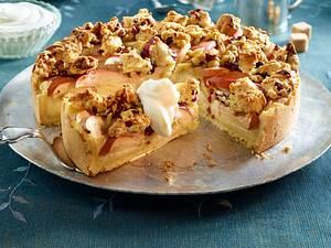 Apfelkuchen mit Florentiner-Streuseln Rezept