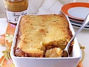 Apfelkuchen mit Milch-Karamell-Konfitüre Rezept