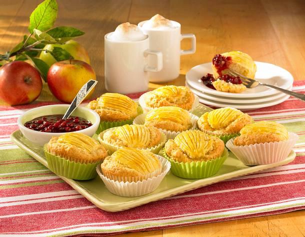 Apfelmuffins mit Preiselbeer-Kompott (Diabetiker) Rezept