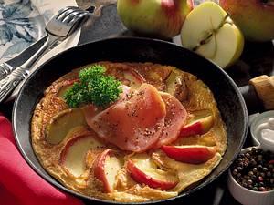 Apfelpfannkuchen mit Schinken Rezept