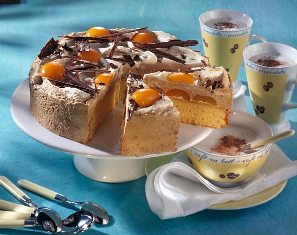 Aprikosen-Café au lait Torte Rezept
