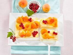 Aprikosen-Flammeri-Kuchen Rezept