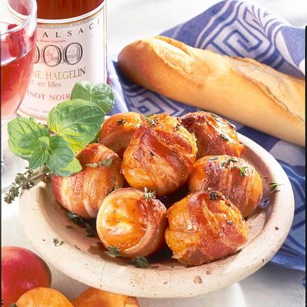Aprikosen im Speckmantel Rezept