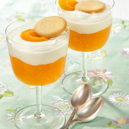 Aprikosen-Püree mit Quarkhaube Rezept