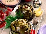 Artischocken mit Quark-Tomaten und Senfvinaigrette Rezept