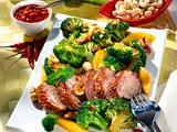 Asia-Broccoli zu knuspriger Entenbrust Rezept