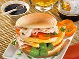 Asia-Burger mit Eieromelett Rezept