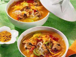Asia-Suppe mit Glasnudeln Rezept
