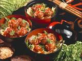Asiatische Hackbällchen mit feuriger Tomatensoße Rezept