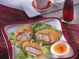 Asiatische Pfannkuchen-Schnecken Rezept
