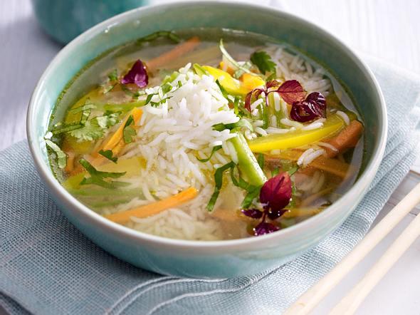 Asiatische Reis-Suppe Rezept