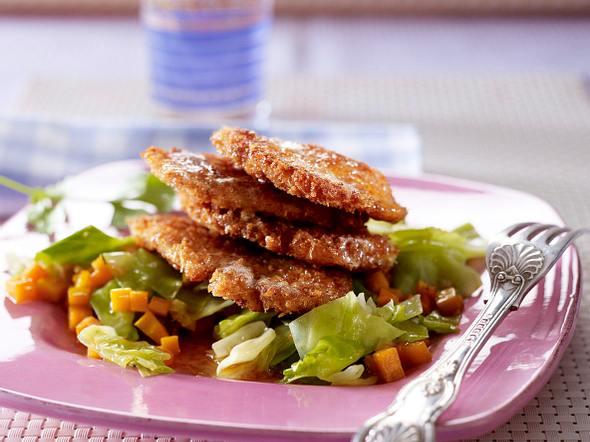 Asiatisches Hähnchenschnitzel mit Spitzkohl-Gemüse Rezept