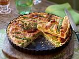 Asparagus and chorizo tart Rezept