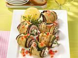 Auberginen-Zucchiniröllchen mit Schinken Rezept