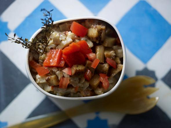 Auberginensalat mit Thymian Rezept