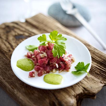 Austern-Beeftatar mit Petersilien-Mayonnaise Rezept