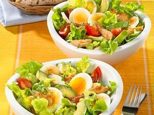 Avocado-Eiersalat mit Putenstreifen Rezept